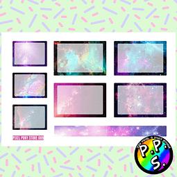 Lámina de Stickers 89 Box Galaxia Soft