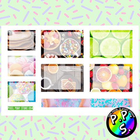 Lámina de Stickers 94 Box Dulce Soft