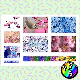 Lámina de Stickers 96 Box Flores