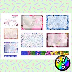 Lámina de Stickers 97 Box Flores Soft