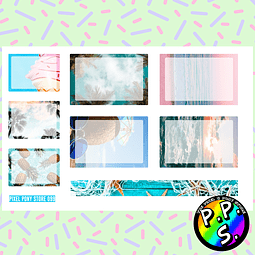 Lámina de Stickers 99 Box Playa Soft