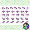Lámina de Stickers 102 Unicornio Morado