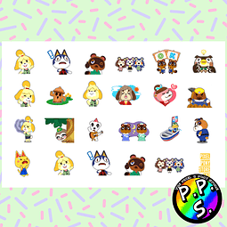 Lámina de Stickers 107 Animal Crossing