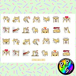 Lámina de Stickers 109 Shiba Inu
