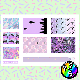 Lámina de Stickers 111 Box Pastel Goth