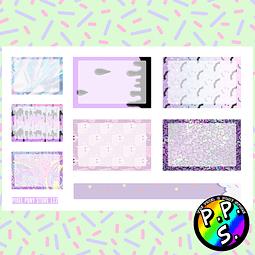 Lámina de Stickers 112 Box Pastel Goth Soft