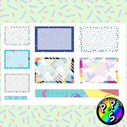 Lámina de Stickers 114 Box Memphis Soft