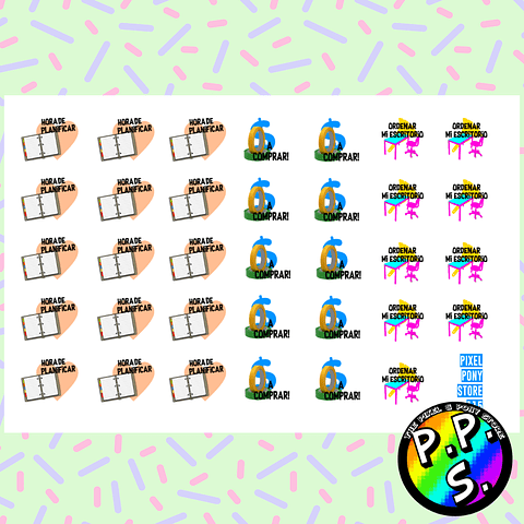 Lámina de Stickers 115 Planificar