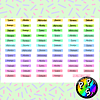 Lámina de Stickers 118 Días de la Semana