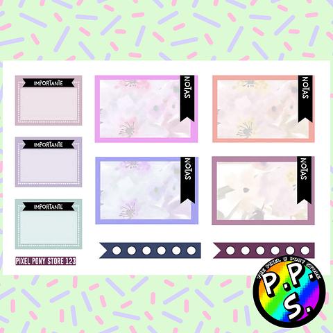 Lámina de Stickers 123 Box Notas