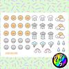 Lámina de Stickers 125 Clima Kawaii