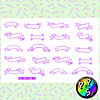 Lámina de Stickers 129 Cintas para Títulos Violeta