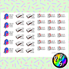 Lámina de Stickers 135 Estudio