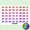 Lámina de Stickers 138 Días de la Semana