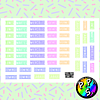 Lámina de Stickers 139 Días de la Semana