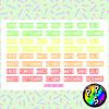 Lámina de Stickers 142 Meses