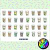 Lámina de Stickers 152 Coffe Tumblr