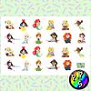 Lámina de Stickers 153 Princesas