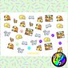 Lámina de Stickers 155 Mascotas