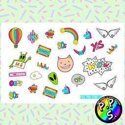 Lámina de Stickers 159 '90 Stickers