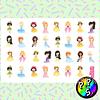 Lámina de Stickers 163 Princesas
