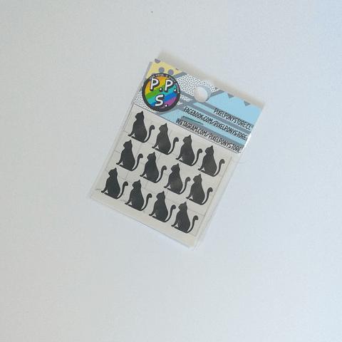 Vinilo Adhesivo Para Marcar Lápices - Gato Silueta