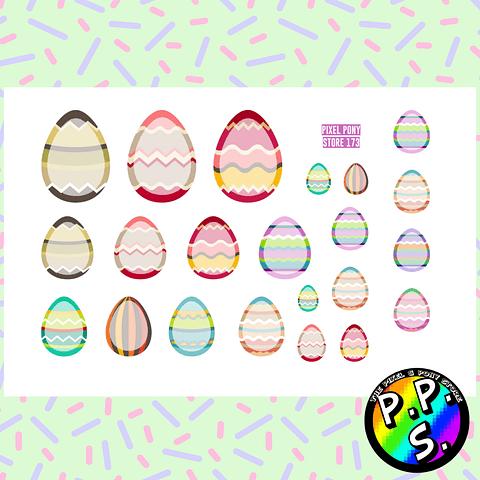 Lámina de Stickers 173 Huevos de Pascua Soft