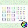 Lámina de Stickers 179 Banderitas de Colores