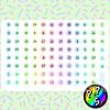 Lámina de Stickers 181 Días del Mes Pastel
