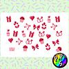 Lámina de Stickers 184 Amor