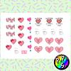 Lámina de Stickers 186 Love