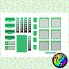 Lámina de Stickers 192 Deco Verde