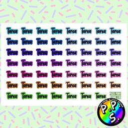 Lámina de Stickers 195 Tarea