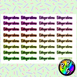 Lámina de Stickers 201 Entregar Informe