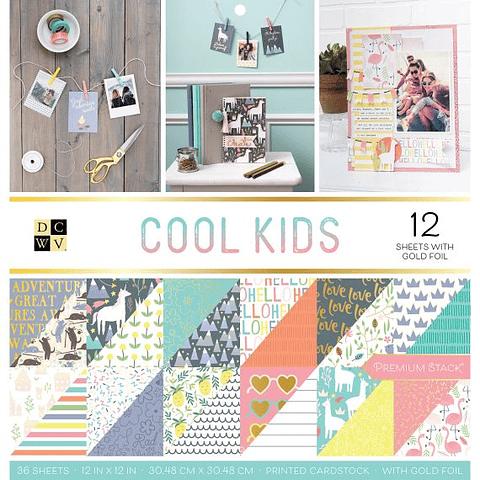 DCWV Paper Pad 12x12 Cool Kids