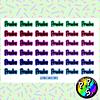 Set de 10 Láminas de Stickers Estudiantes