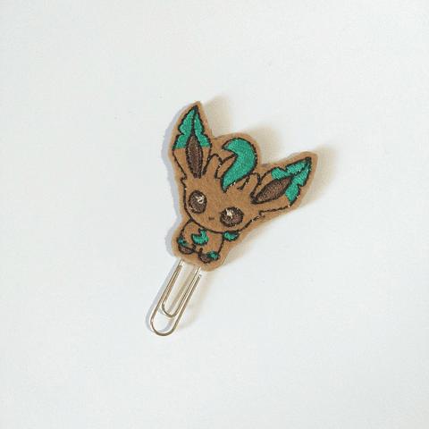 Clip Bordado Pokemon - Leafeon