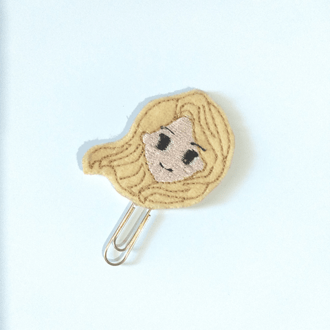 Clip Bordado Princesas - Rapunzel
