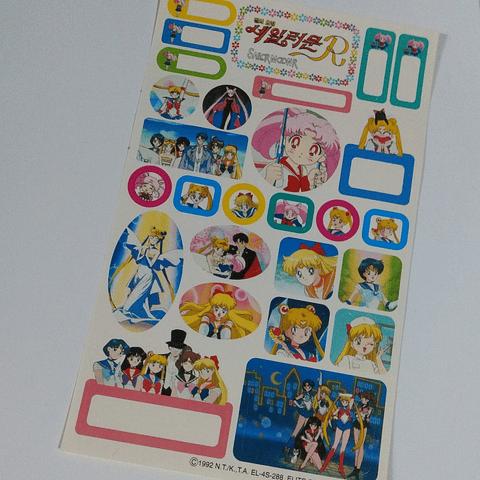 Set 4 Hojas Stickers Sailor Moon R Originales