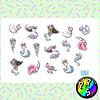 Lámina de Stickers 202 Sirenas
