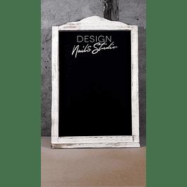 Pizarra para colgar provenzal con logo