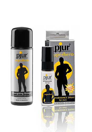 superhero spray + superhero lubricante