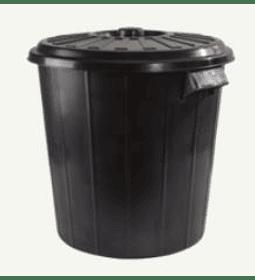 Basurero 60 lt C/T Negro