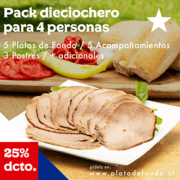 PACK DIECIOCHERO 4 PERSONAS