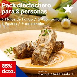 PACK DIECIOCHERO PARA 2 PERSONAS