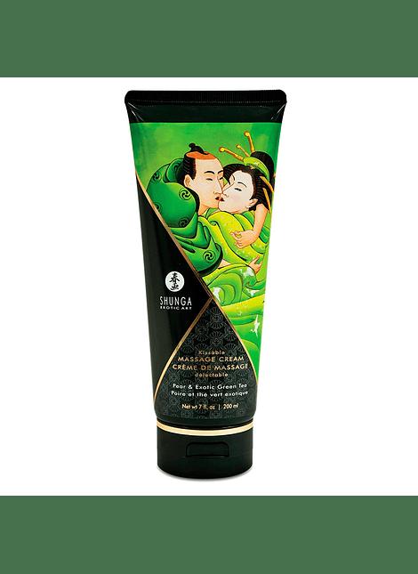Crema de masaje comestible - Pera y Té Verde Shunga