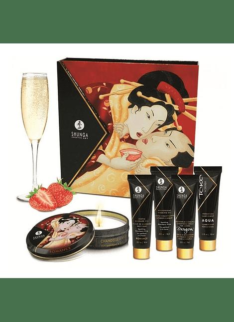 Kit Secretos de la Geisha Frutilla Champaña Shunga