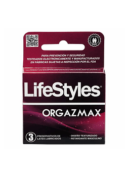 Lifestyles Orgazmax x 3