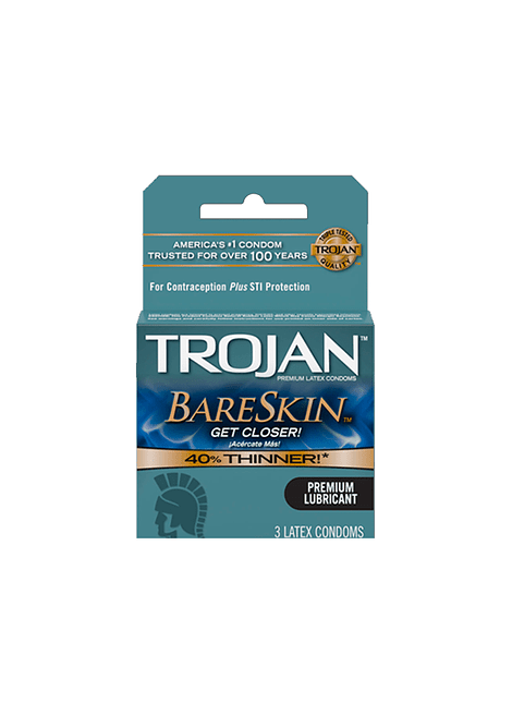 Preservativo Trojan Bareskin 3 unidades