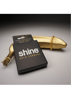 Shine® 3 Preservativos Gold 24K